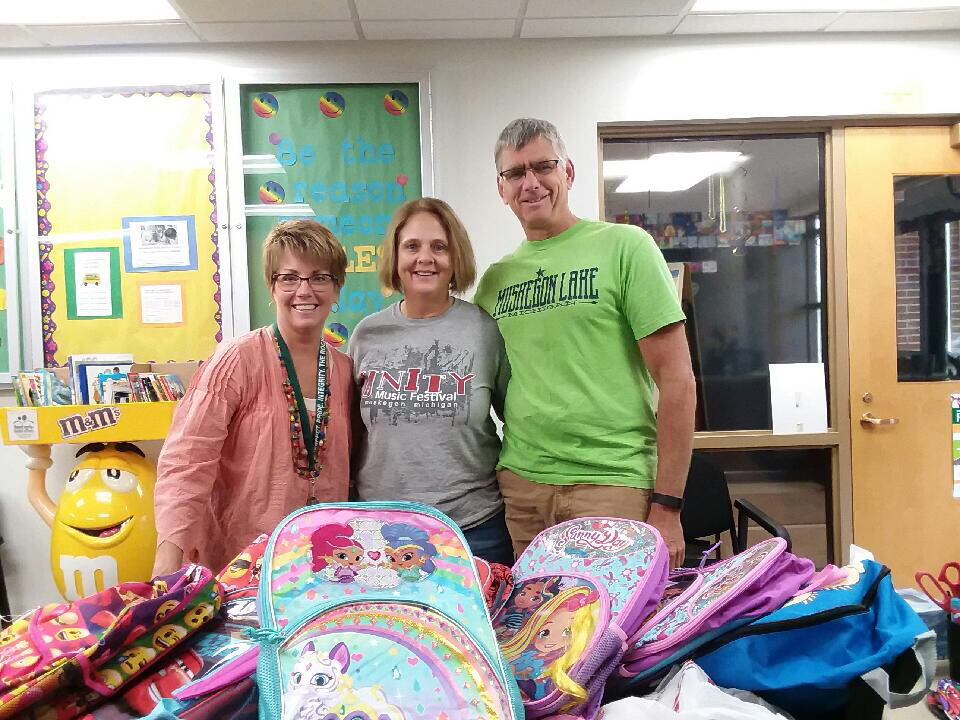 Journey Church donated backpacks and supplies.