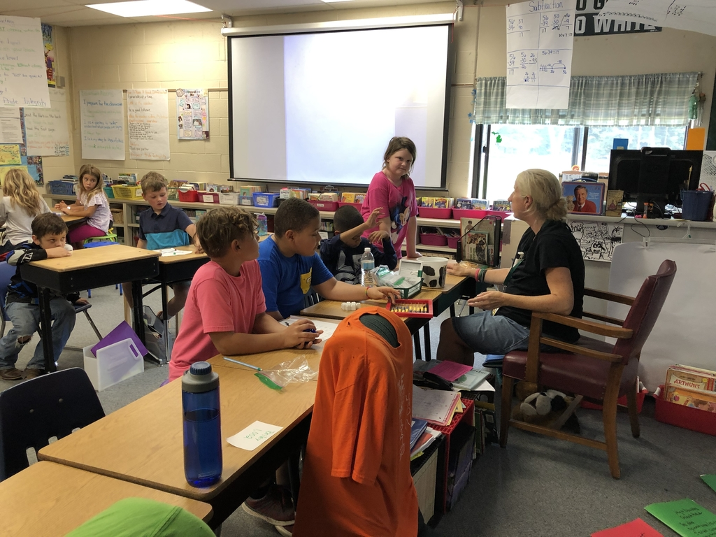 Math games in Mrs. Miller's room~
